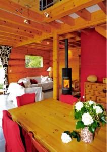 chambre séjour  bois