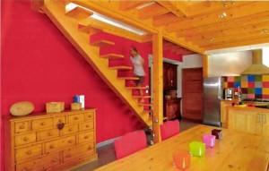 escalier maison bois