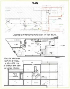 plan maison bois