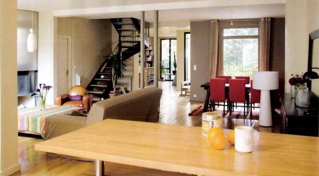 séjour maison bois