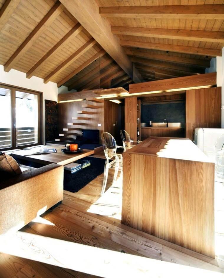 Decoration bois interieur moderne devis maison bois et maison bois en kit - Decoratie interieur bois ...