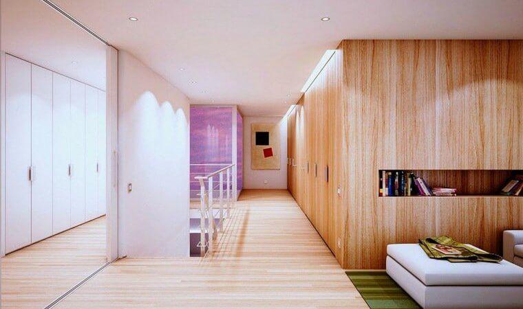 Avoir une décoration moderne dans une maison en bois