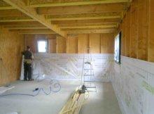 Isolation de maison en bois
