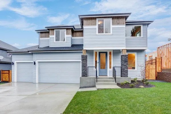 couleur extérieur bleu clair pour maison en bois